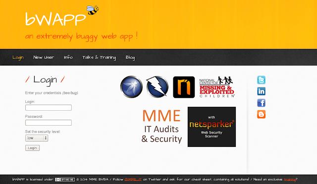 افضل مختبر اختراق مواقع bwapp شرح التنصيب