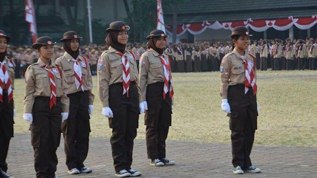 Pramuka di Lapangan Ahmad Yani Tangerang