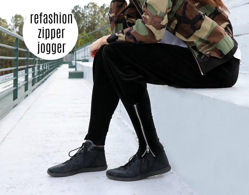 DIY: Refashion Zipper Joggers