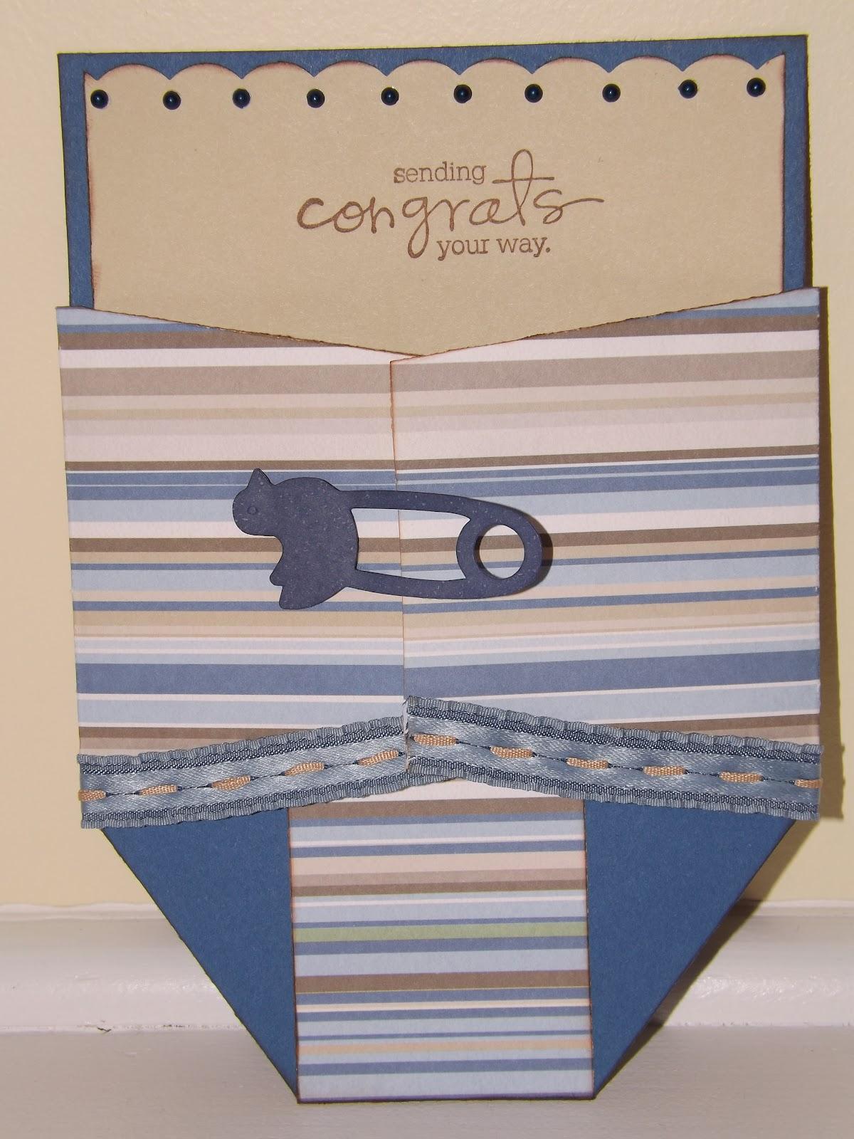 paper deckerations diaper gift card holder