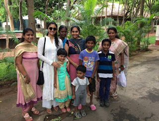 Keerthy Suresh in White Dress with Family Fanz