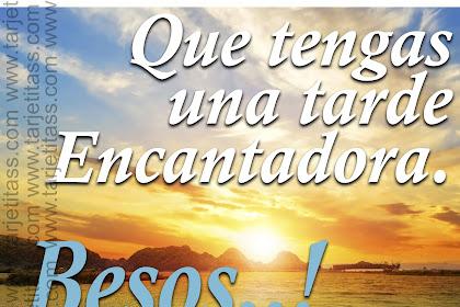 Buenas Tardes Amor Frases