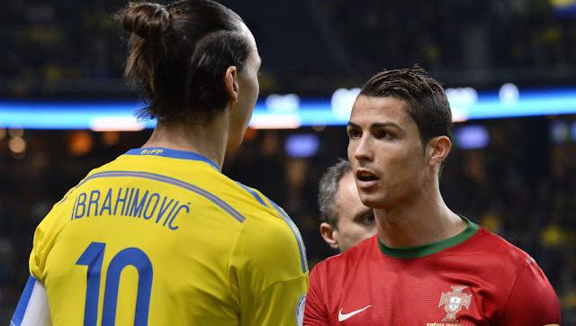 Zlatan Ibrahimovic allume Cristiano Ronaldo