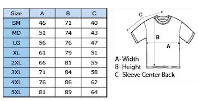 Gildan ultra cotton measurement Chart
