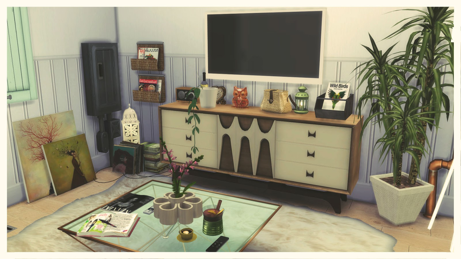 Sims 4 apartment renovation ii art district house for Apartment design sims 3