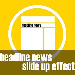 Headline News dengan Efek Slide Up