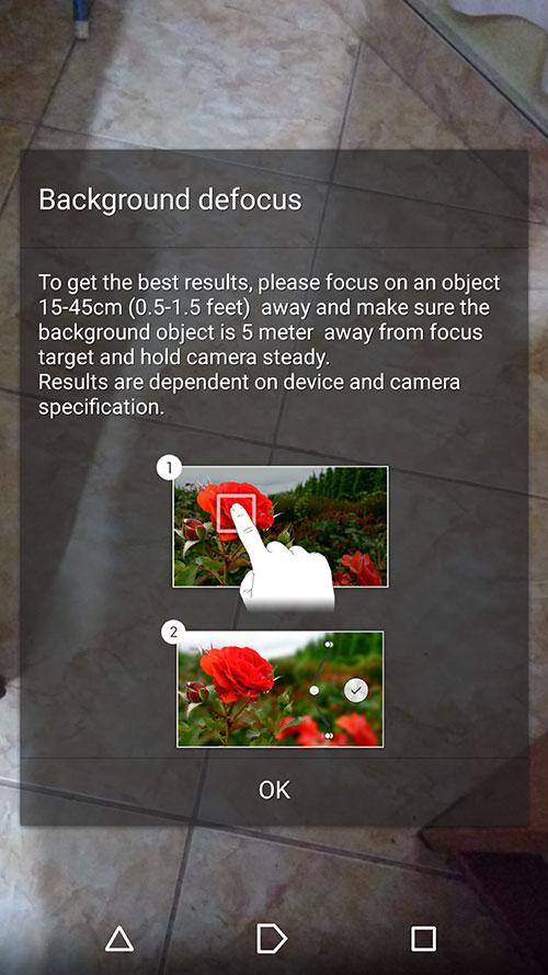 Background defocus 2.2.3