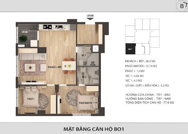 Chi tiết căn hộ B01