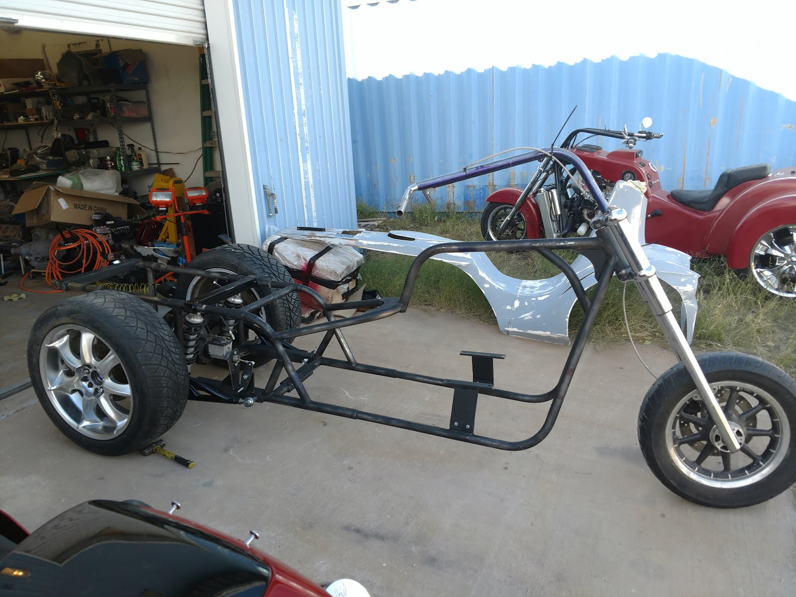 v8 trike rolling chassis