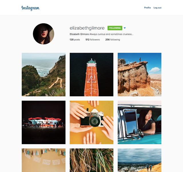 Instagram web profile versi baru