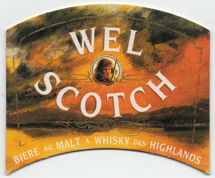 recto du sous-bock de la bière Wel Scotch