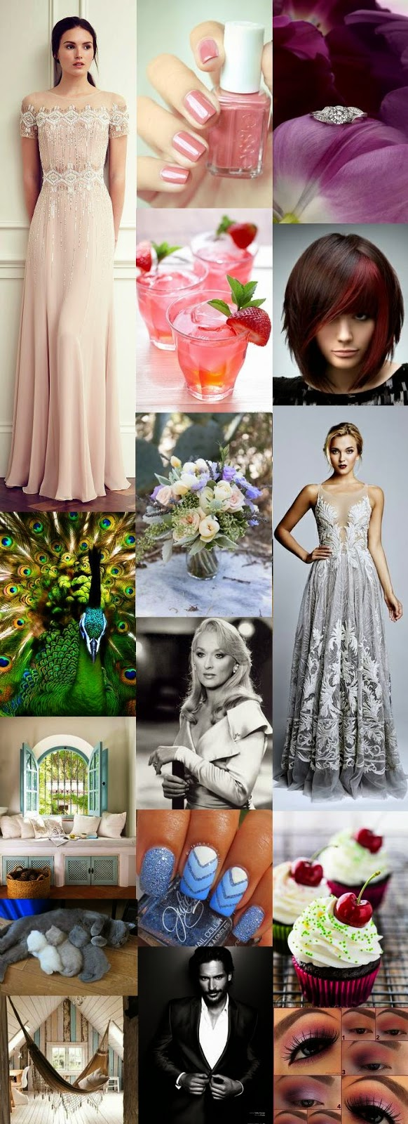meryl streep joe manganiello cupcake chat chaton nailart paon robe de soirée cheveux rouge thé glacé essie bague make up