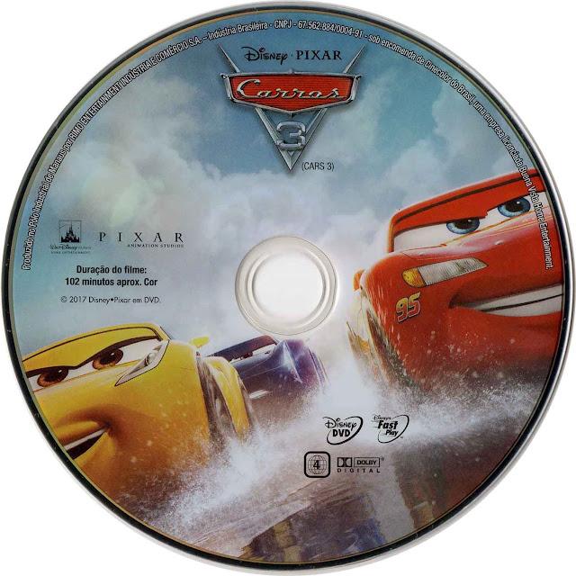 Label DVD Carros 3