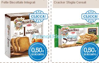 Logo Mulino Bianco: 10 buoni sconto crackers e fette biscottate