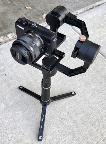 3-axis gyro stabilized camera hand holdable mount (Crane Plus by Zhiyun) being evaluated for long exposures on moving vehicles  (Source: Palmia Observatory)