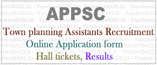 APPSC Town planning Assistants, Recruitment, Apply online