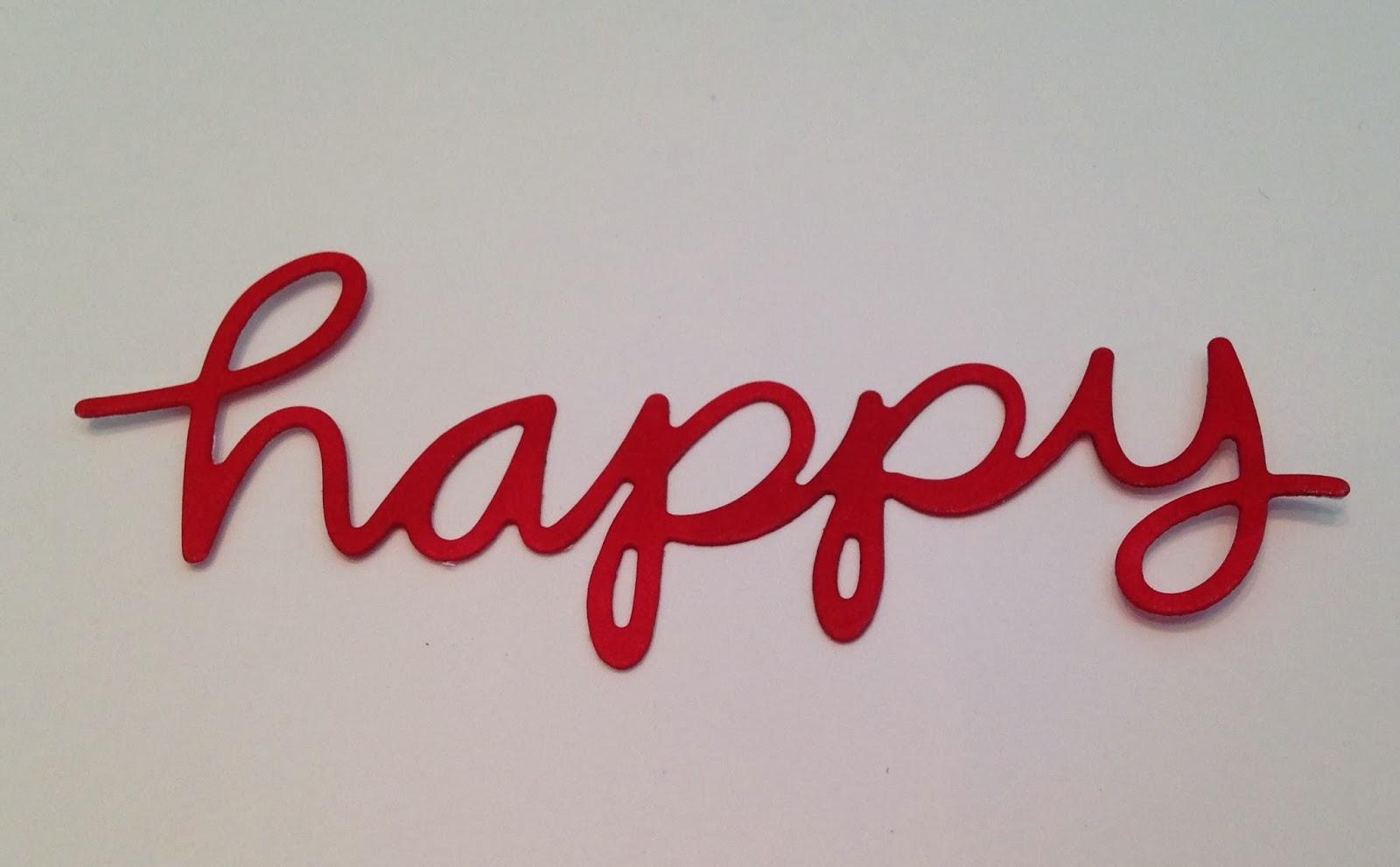 Let's Make A Card!: Amuse Studio Happy Word Die