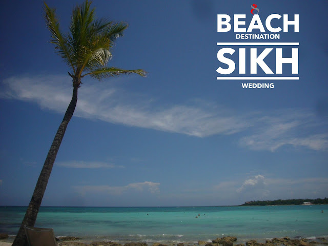 Sikh destination Wedding on Beach Riviera Maya mexico