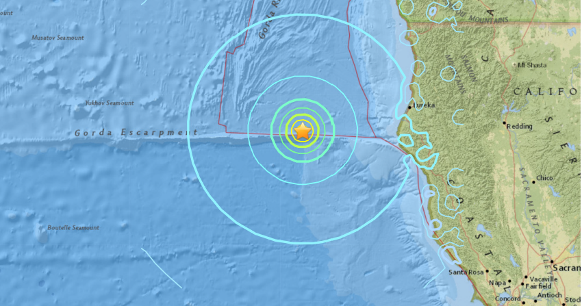 Sciency Thoughts: Magnitude 6.5 Earthquake off the coast ...