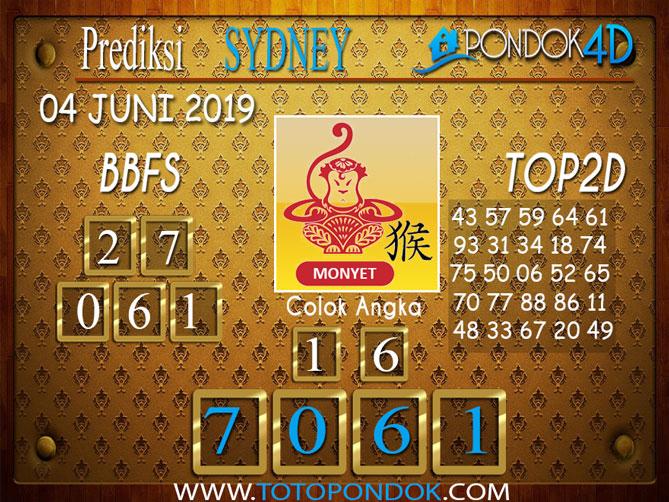 Prediksi Togel SYDNEY PONDOK4D 04 JUNI 2019