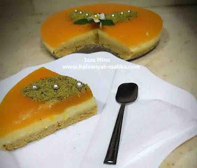 تحلية باردة بالبرتقال بلا طياب