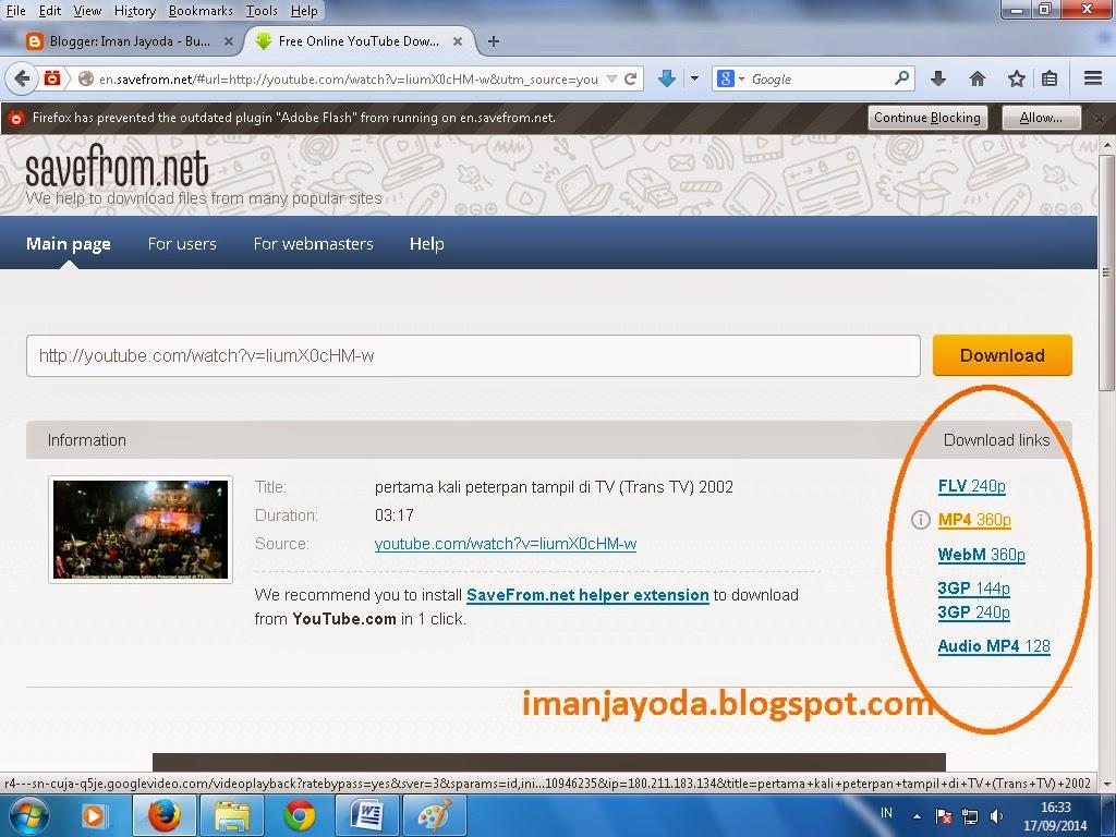 Cara Mudah Download Video Youtube Tanpa IDM ~ Iman Jayoda