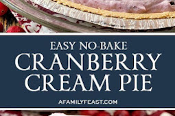 This No-Bake Cranberry Cream Pie couldn't be any easier to make!
