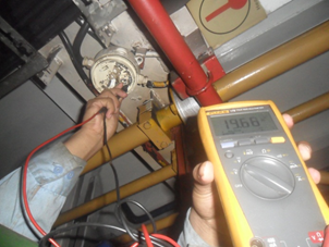 Testing insulation, voltage and connection