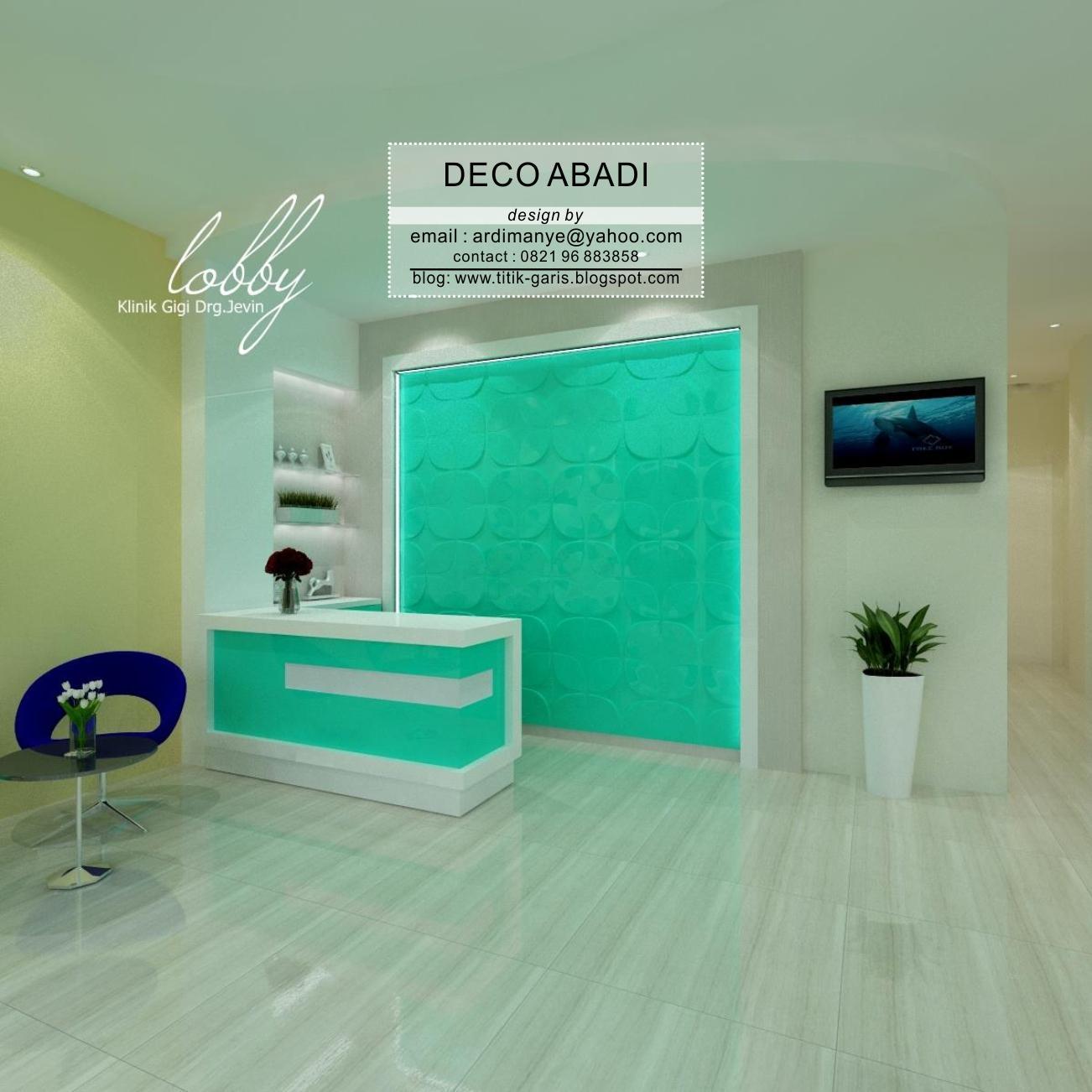 Desain Interior Klinik Gigi Pada Bangunan Ruko Rumah Garis