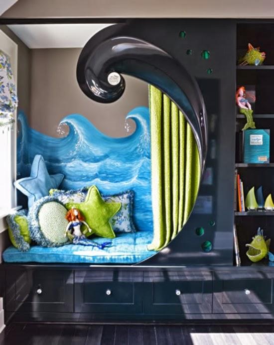 Dormitorio motivos de mar