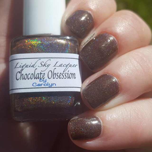 Chocolate Brown Linear Holographic nail polish
