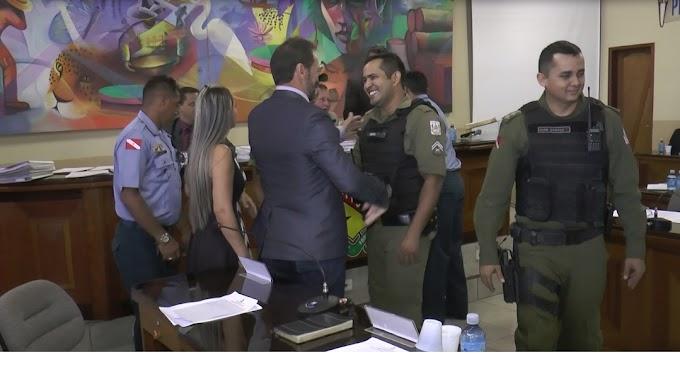 NA SESSÃO DE TERÇA-FEIRA (27), A POLICIA MILITAR DO DESTACAMENTO DE MORAES ALMEIDA FOI HOMENAGEADA PELA CÂMARA DE VEREADORES.