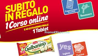 Logo Premi sicuri con Galbanino e vinci Tablet Samsung S2