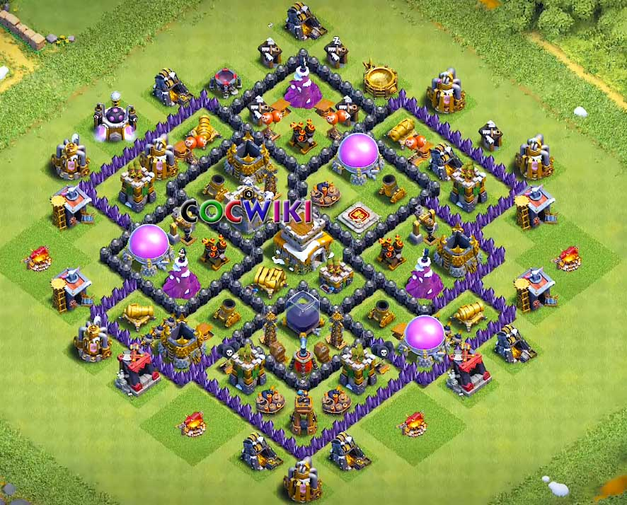 clash of clans level 8 farming layout