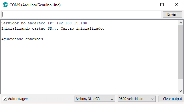 Serial Monitor - Informações iniciais