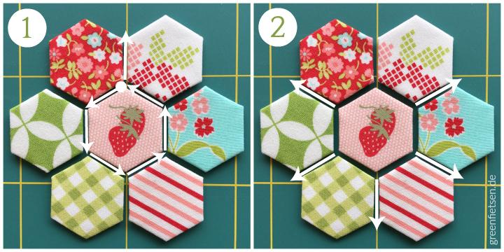 Tutorial 2 | Hexie-Blume zusammennähen (English Paper Piecing)