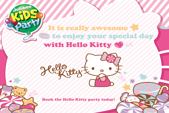 Hello Kitty Jollibee party theme