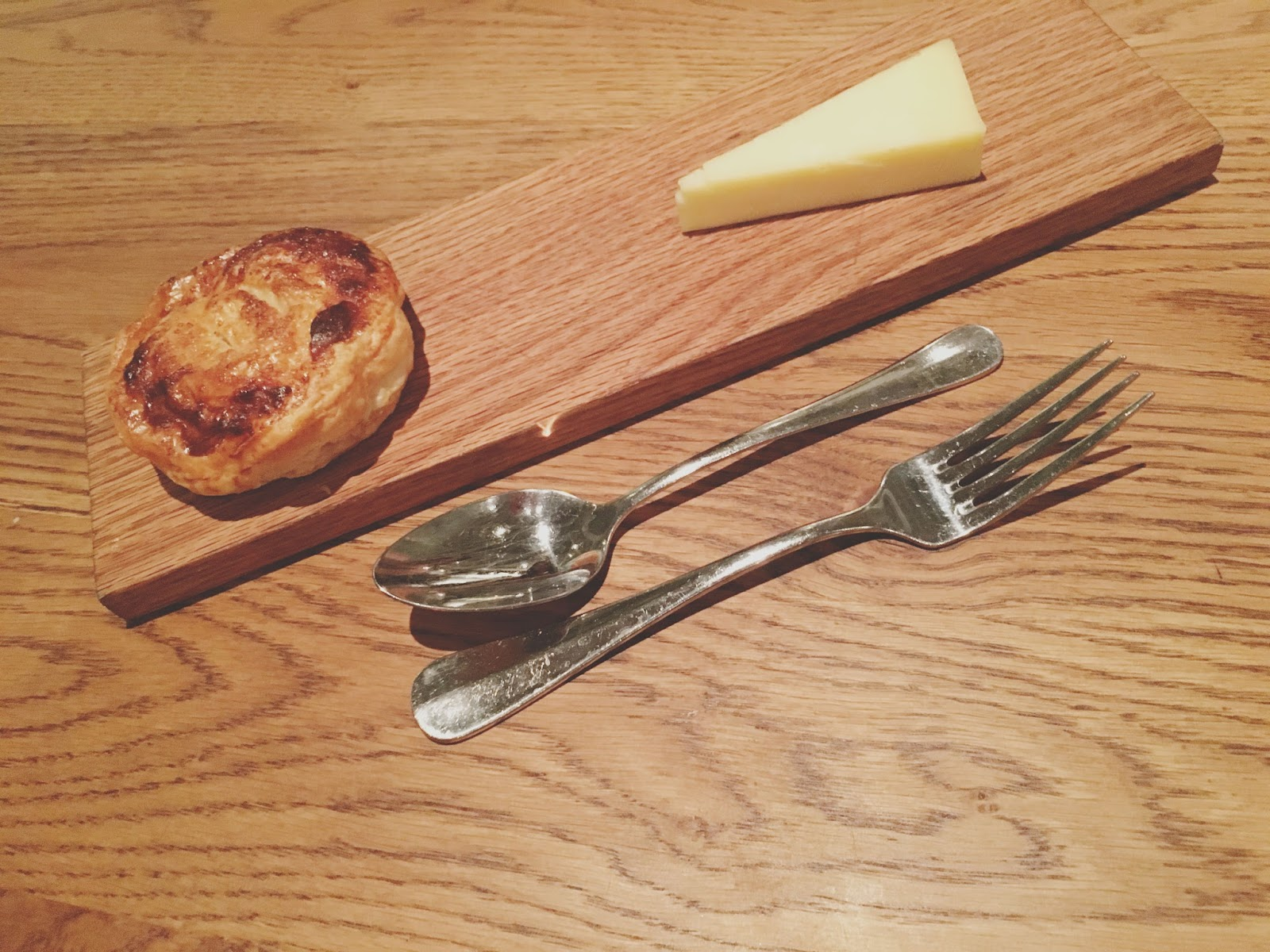 eccles cake with cheddar at Hunky Dory - A restaurant in Houston, Texas