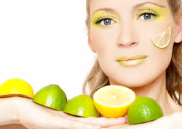 Lime application on the face