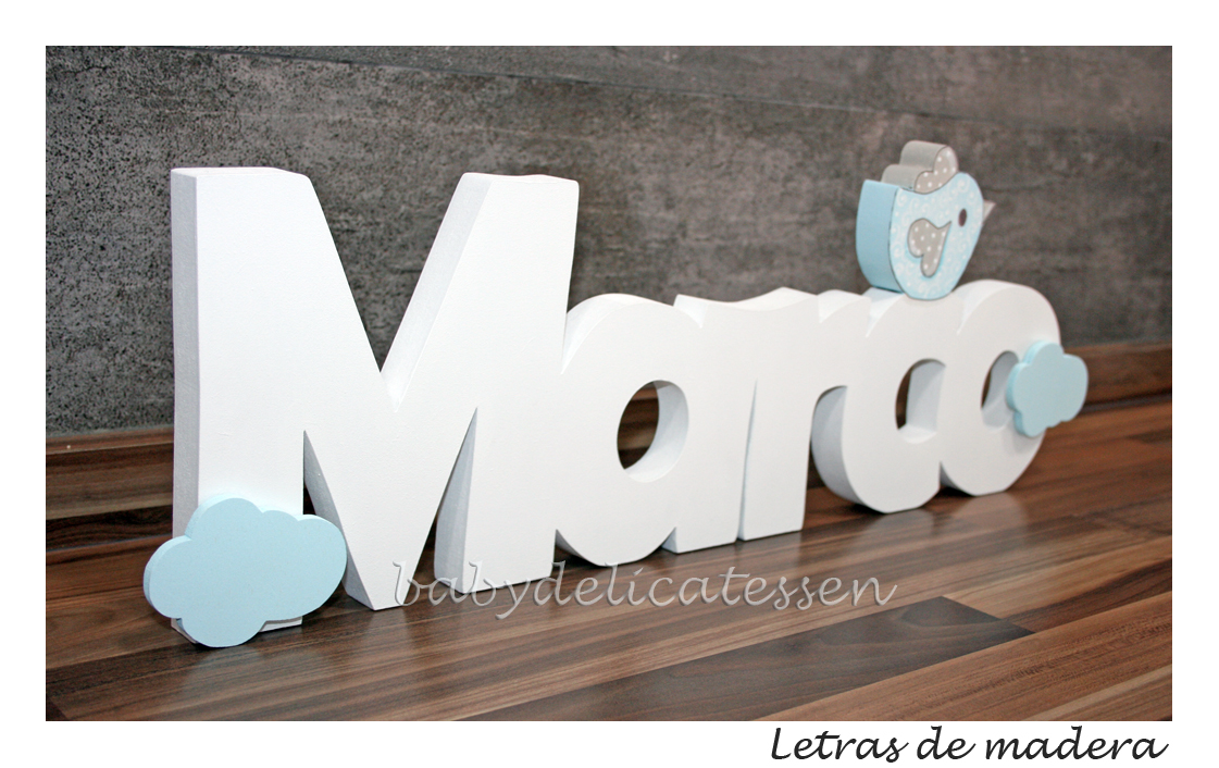 BABY DELICATESSEN LETRAS DE MADERA: NOMBRE EN MADERA: MARCO