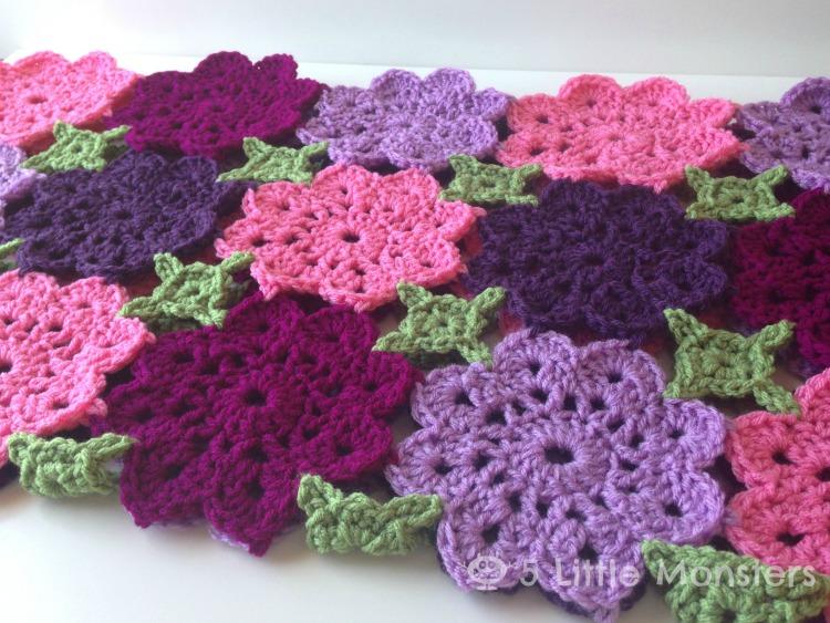 5 Little Monsters Kennedys Flower Garden Blanket