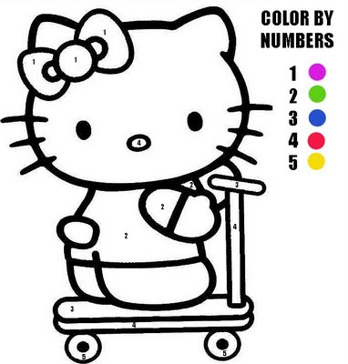 Coloriage204: coloriage magique hello kitty