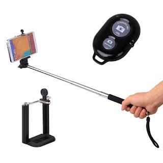 selfie stick con telecomando
