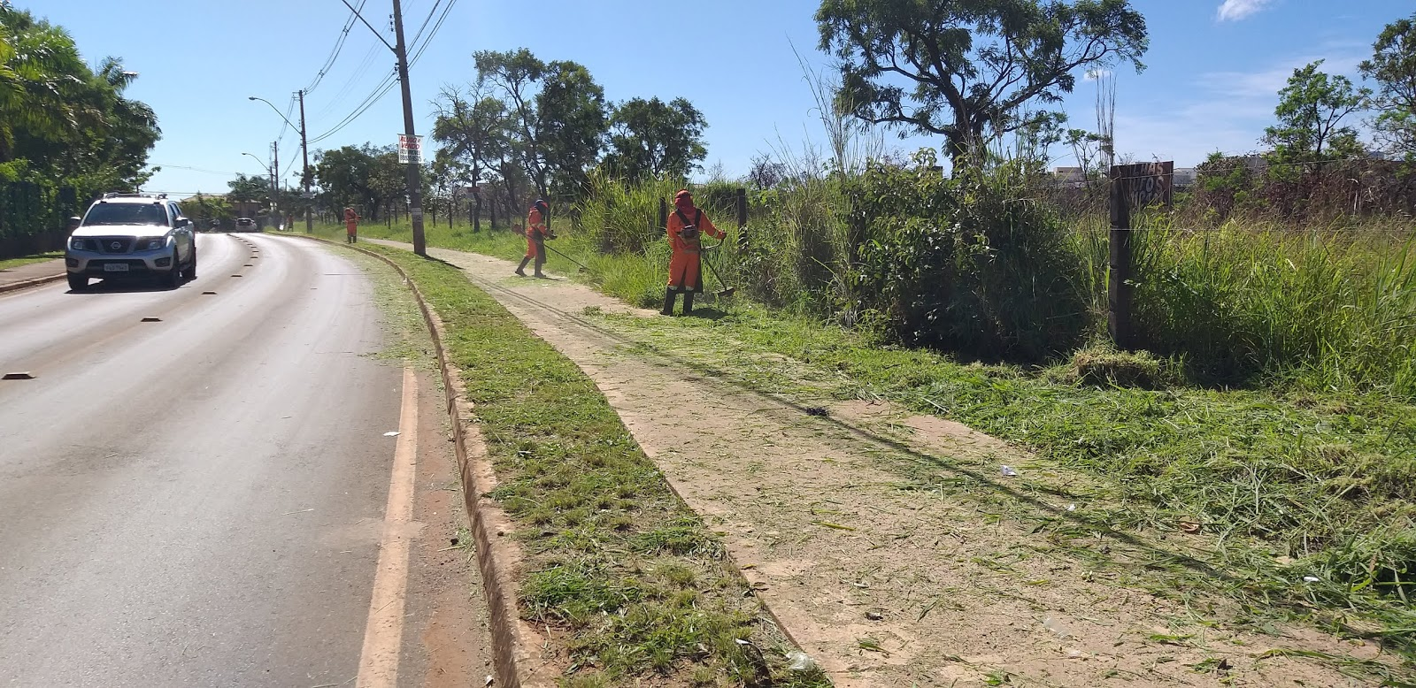 20190114 101655 - O administrador regional do Jardim Botânico, João Carlos Lóssio lançou, nesta segunda feira, ações de limpeza nas ruas que acontecerão de 14 a 16 de janeiro de 2019. SOS DF