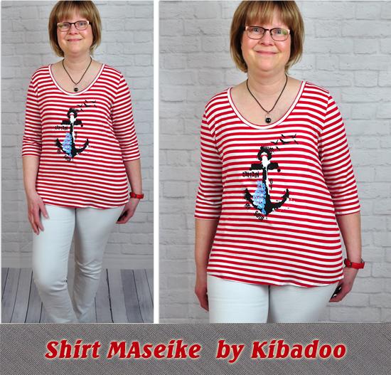 Basicshirt MAseike by Kibadoo