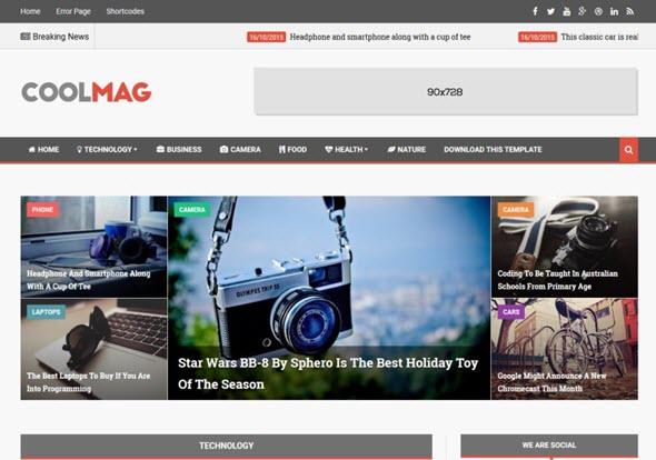 CoolMag responsive blogger template, seo dostu blogger teması, responsive blogger teması, ücretsiz blogger teması