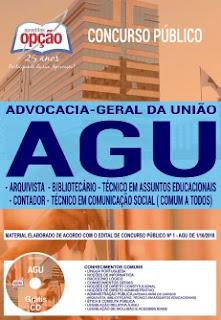 Baixar Apostila Concurso AGU 2018 PDF Download - Nível Superior