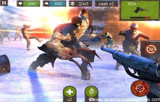 zombie call dead shooter mod apk