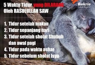 http://www.umatnabi.com/2017/08/5-waktu-tidur-yang-dilarang-dalam-islam.html