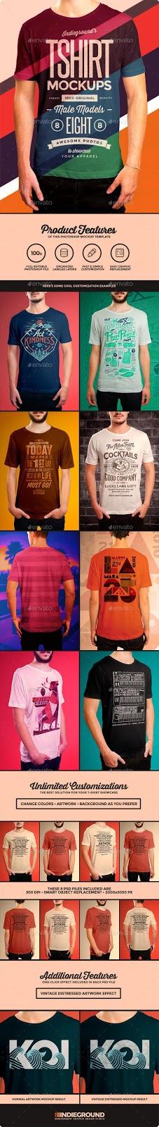 3. Menz T-Shirt Mockups